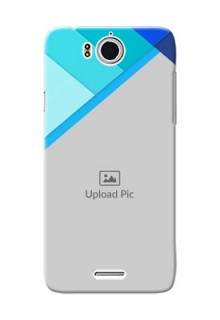 InFocus M530 Blue Abstract Mobile Cover Design