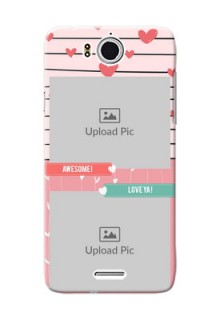 InFocus M530 2 image holder with hearts Design