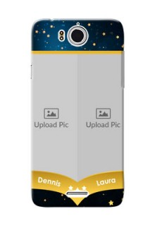 InFocus M530 2 image holder with galaxy backdrop and stars  Design