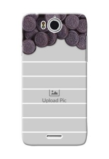 InFocus M530 oreo biscuit pattern with white stripes Design Design
