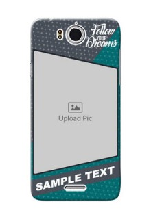 InFocus M530 2 colour background with different patterns and dreams quote Design