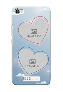 Lava Iris X8 Phone Cases: Blue Color Couple Design