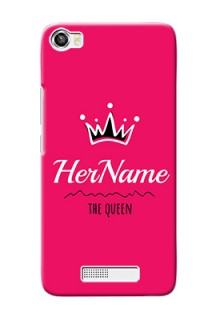 Lava Iris X8 Queen Phone Case with Name