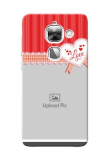 LeEco Le 2 Red Pattern Mobile Cover Design