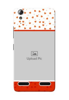 Lenovo A6000 Plus Orange Love Symbol Mobile Cover Design