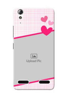 Lenovo A6000 Plus Pink Design With Pattern Mobile Cover Design