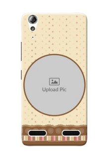 Lenovo A6000 Plus Brown Abstract Mobile Case Design