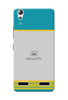 Lenovo A6000 Plus Yellow And Blue Pattern Mobile Case Design