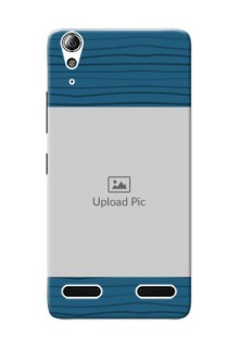 Lenovo A6000 Plus Blue Pattern Mobile Case Design