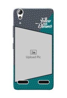Lenovo A6000 Plus 2 colour background with different patterns and dreams quote Design Design
