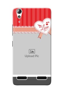 Lenovo A6000 Red Pattern Mobile Cover Design