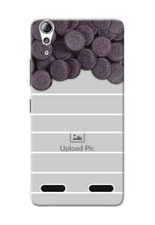 Lenovo A6000 oreo biscuit pattern with white stripes Design Design