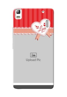 Lenovo A7000 Plus Red Pattern Mobile Cover Design