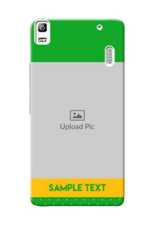 Lenovo A7000 Plus Green And Yellow Pattern Mobile Cover Design