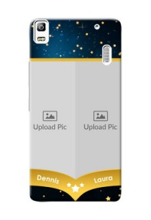 Lenovo A7000 Plus 2 image holder with galaxy backdrop and stars  Design