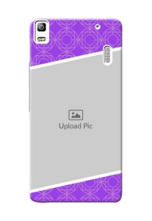Lenovo A7000 Turbo Violet Pattern Mobile Case Design