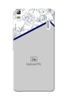 Lenovo A7000 Floral Design Mobile Cover Design