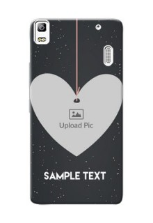 Lenovo A7000 Hanging Heart Mobile Back Case Design