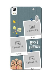 Lenovo A7000 3 image holder with sticky frames and friendship day wishes Design