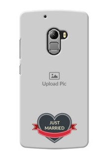Lenovo A7010 Just Married Mobile Cover Design