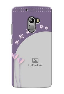 Lenovo A7010 lavender background with flower sprinkles Design Design