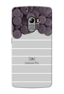 Lenovo A7010 oreo biscuit pattern with white stripes Design Design