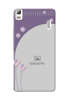 Lenovo K3 Note lavender background with flower sprinkles Design Design