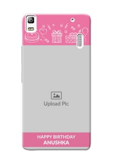 Lenovo K3 Note plain birthday line arts Design Design