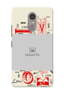 Lenovo K6 Note Lovers Picture Upload Mobile Case Design