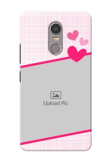 Lenovo K6 Note Pink Design With Pattern Mobile Cover Design