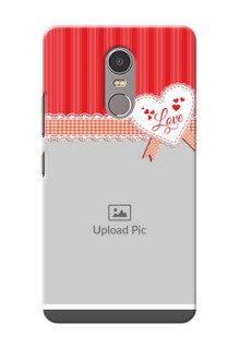 Lenovo K6 Note Red Pattern Mobile Cover Design