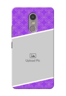 Lenovo K6 Note Violet Pattern Mobile Case Design