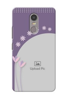 Lenovo K6 Note lavender background with flower sprinkles Design Design