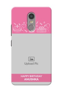 Lenovo K6 Note plain birthday line arts Design Design