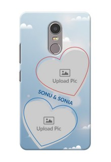 Lenovo K6 Note couple heart frames with sky backdrop Design