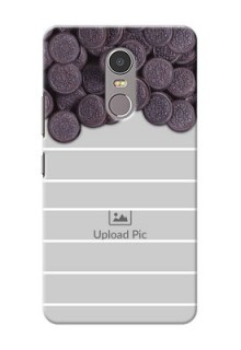 Lenovo K6 Note oreo biscuit pattern with white stripes Design Design