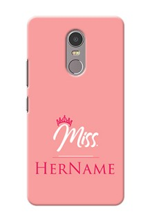 Lenovo K6 Note Custom Phone Case Mrs with Name