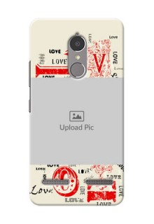 Lenovo Vibe K6 Power Lovers Picture Upload Mobile Case Design