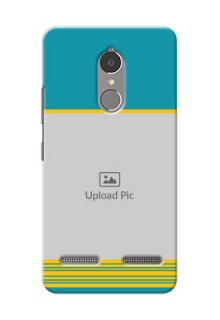 Lenovo Vibe K6 Power Yellow And Blue Pattern Mobile Case Design