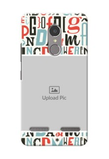 Lenovo Vibe K6 Power Colourful Alphabets Mobile Back Case Design