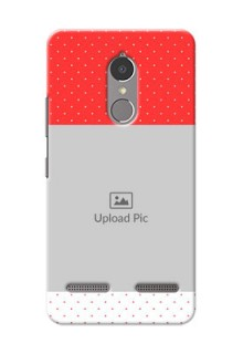 Lenovo Vibe K6 Power Red Pattern Mobile Case Design