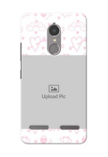 Lenovo Vibe K6 Power Flying Hearts Mobile Back Cover Design