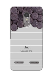 Lenovo Vibe K6 Power oreo biscuit pattern with white stripes Design Design