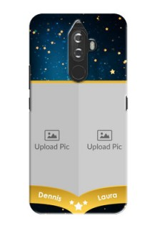 Lenovo K8 Note 2 image holder with galaxy backdrop and stars  Design