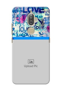 Lenovo K8 Plus Colourful Love Patterns Mobile Case Design