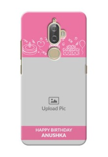 Lenovo K8 Plus plain birthday line arts Design