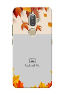 Lenovo K8 Plus autumn maple leaves backdrop Design