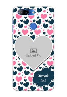 Lenovo K9 Mobile Covers Online: Pink & Blue Heart Design
