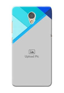 Lenovo P2 Phone Cases Online: Blue Abstract Cover Design