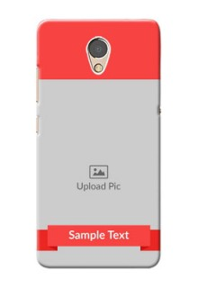 Lenovo P2 Personalised mobile covers: Simple Red Color Design